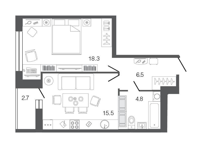 Евродвушка: что это, достоинства и недостатки квартиры с европланировкой