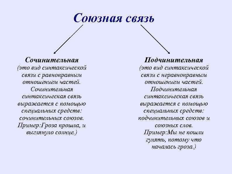 Виды подчинительной связи в словосочетании и предложении