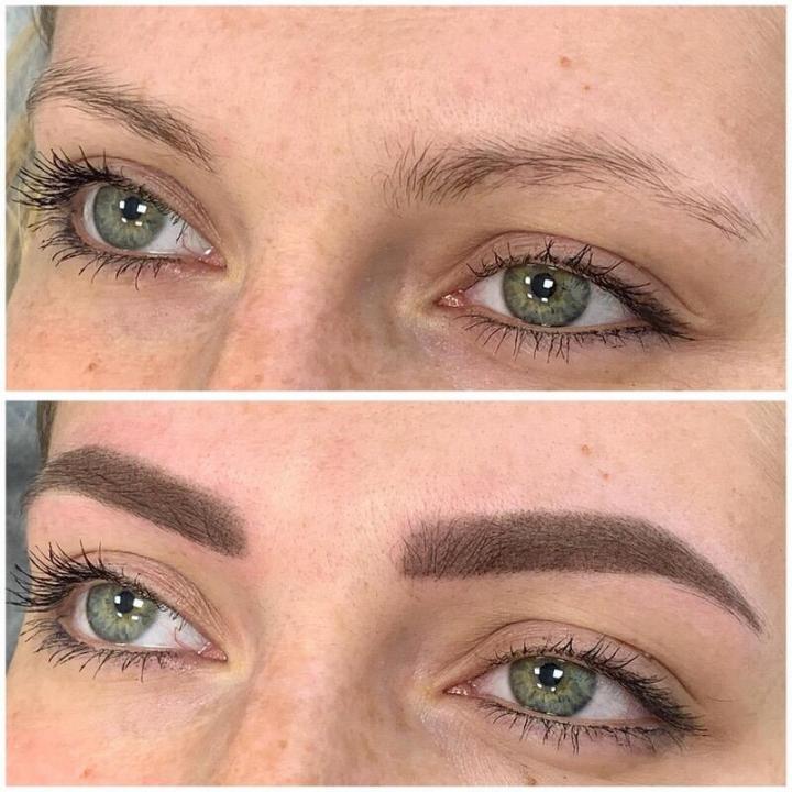 Перманентный макияж бровей в технике напыление – особенности и разновидности.