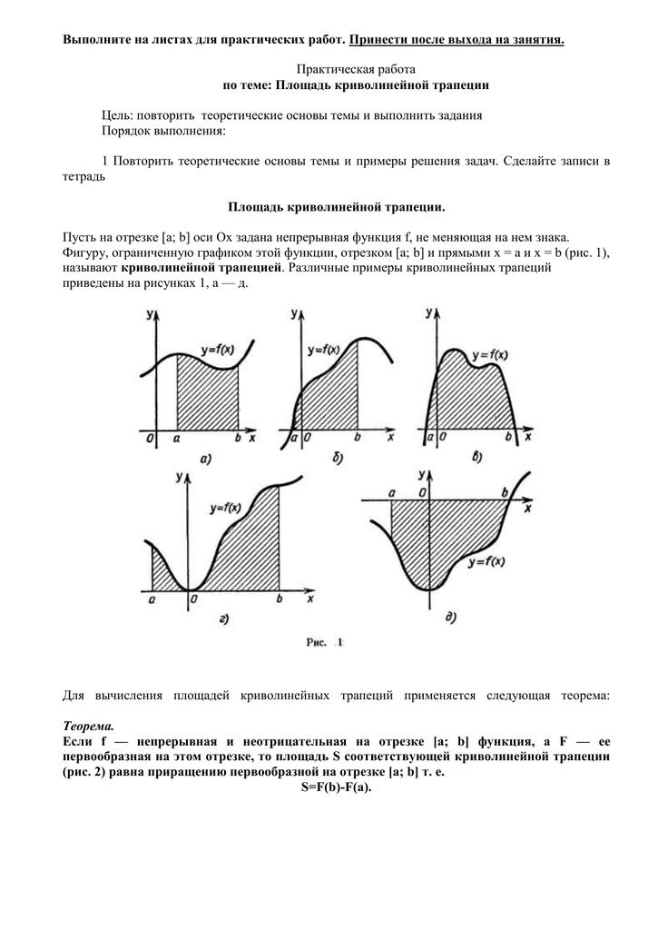 Подготовка школьников к егэ  (справочник по математике - элементы математического анализа - определенный интеграл. теорема ньютона-лейбница