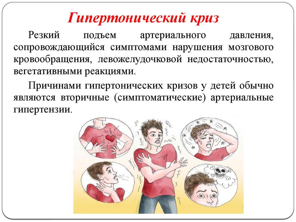 Симптомы и признаки гипертонического криза у женщин, а так же причины, первая помощь, лечение и последствия