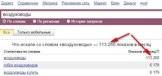 Как узнать частоту ключевого запроса в яндекс и google