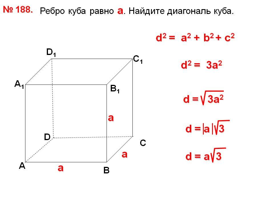 Ребро куба | онлайн калькуляторы, расчеты и формулы на geleot.ru