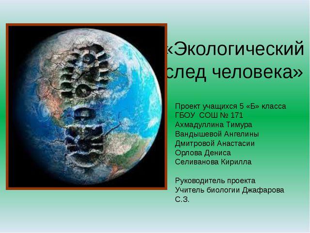 Тема: экологический след человека