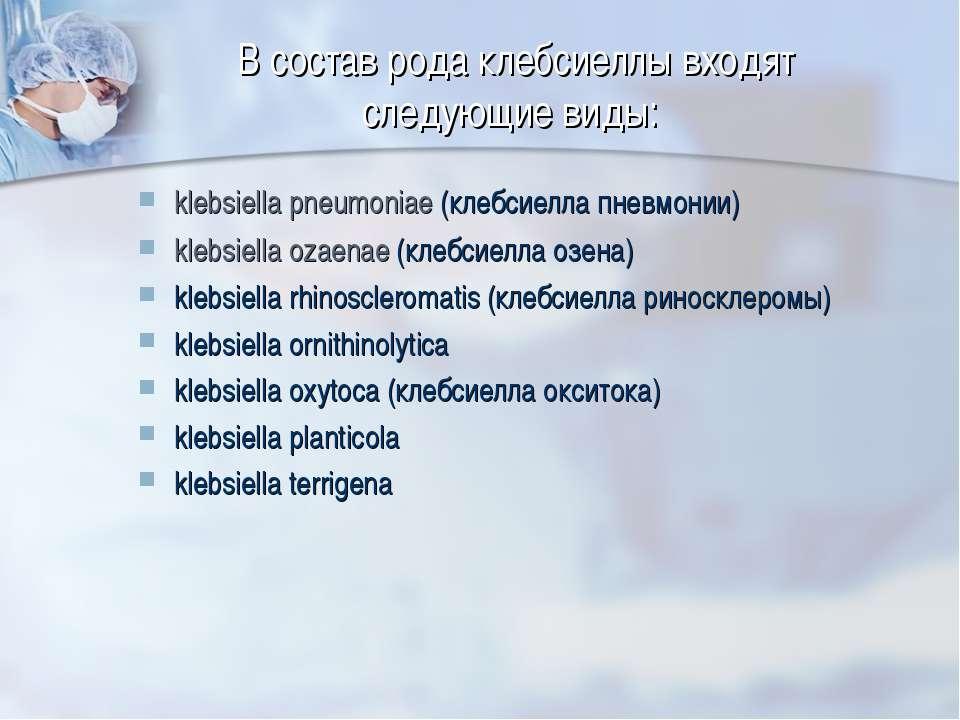 Бактерии klebsiella pneumoniae: симптомы и лечение
