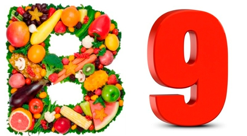 Еда, содержащая много фолиевой кислоты (в9)