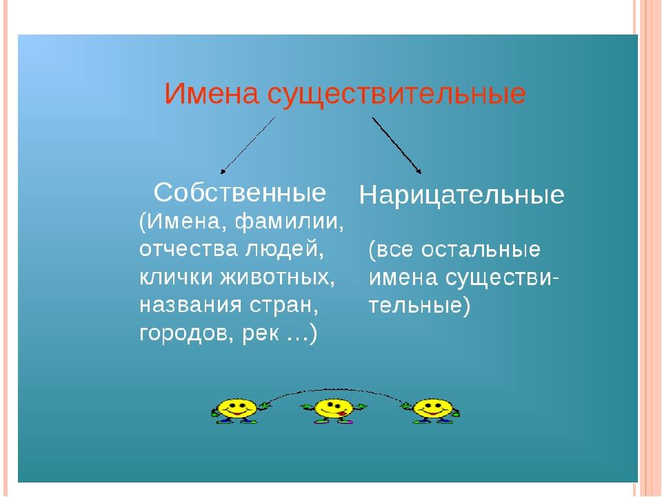 Имя существительное - это... в русском языке