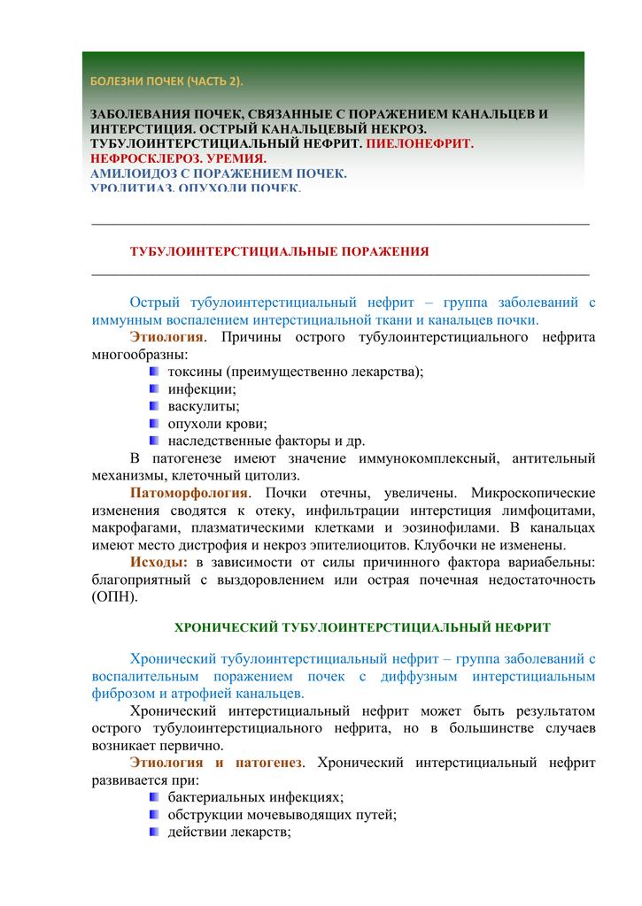 Тубулоинтерстициальный нефрит