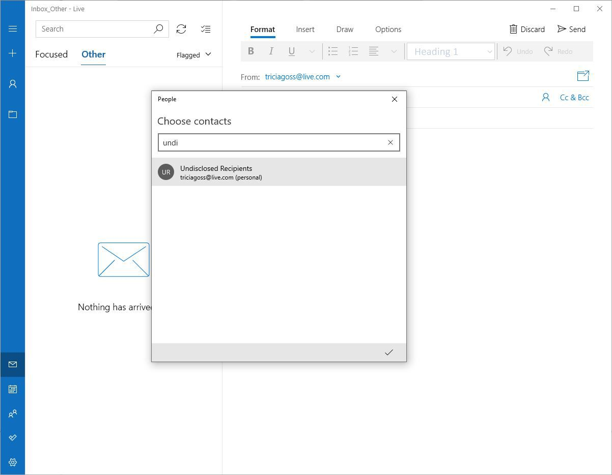 How to send an email to undisclosed recipients
