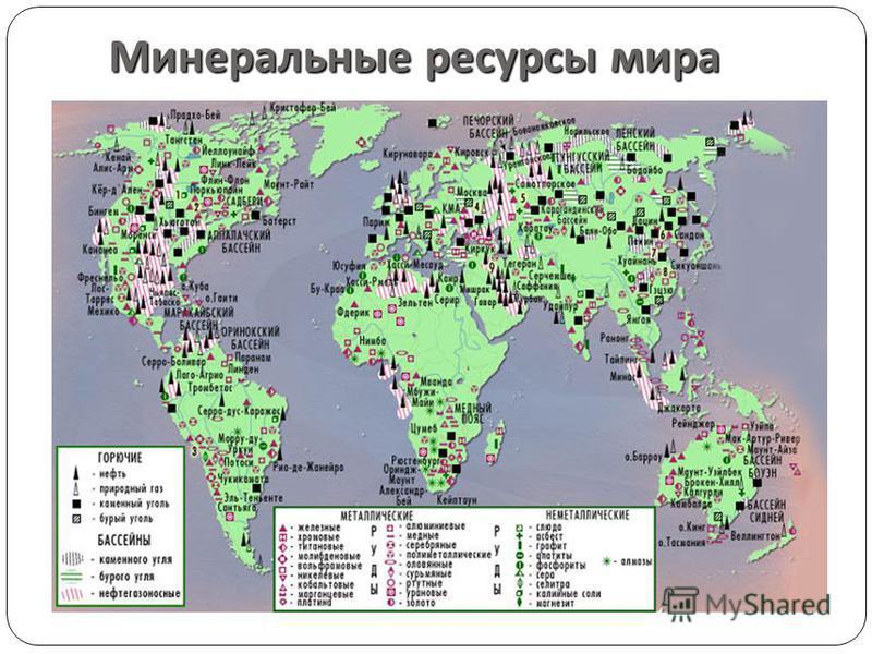 Минеральные ресурсы россии: экологические проблемы и карта природных ресурсов