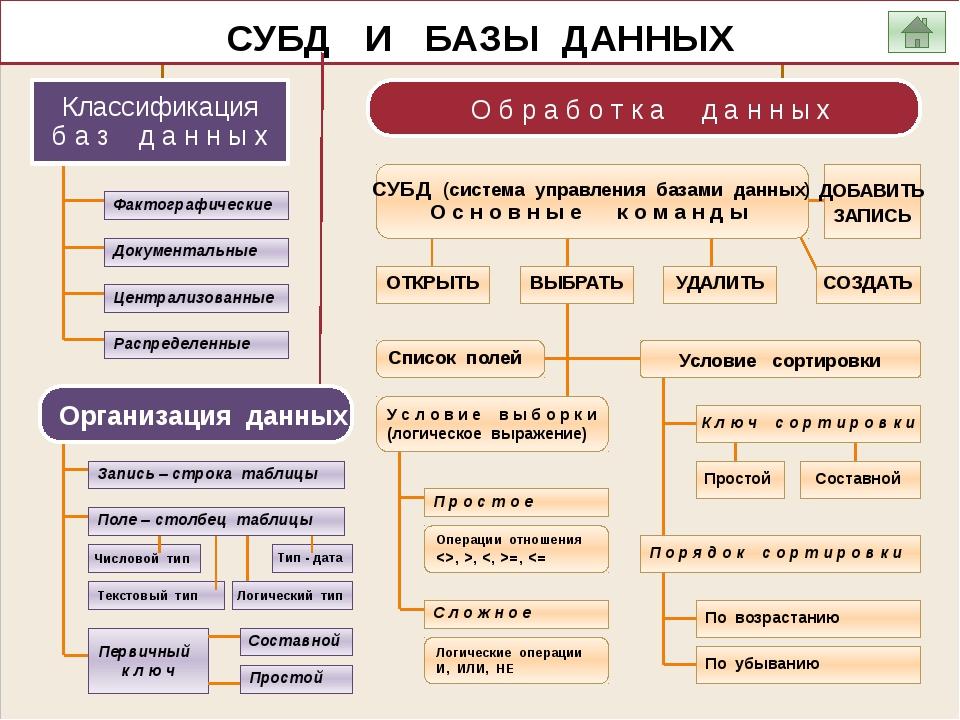 Системы управления базами данных  —     базы данных