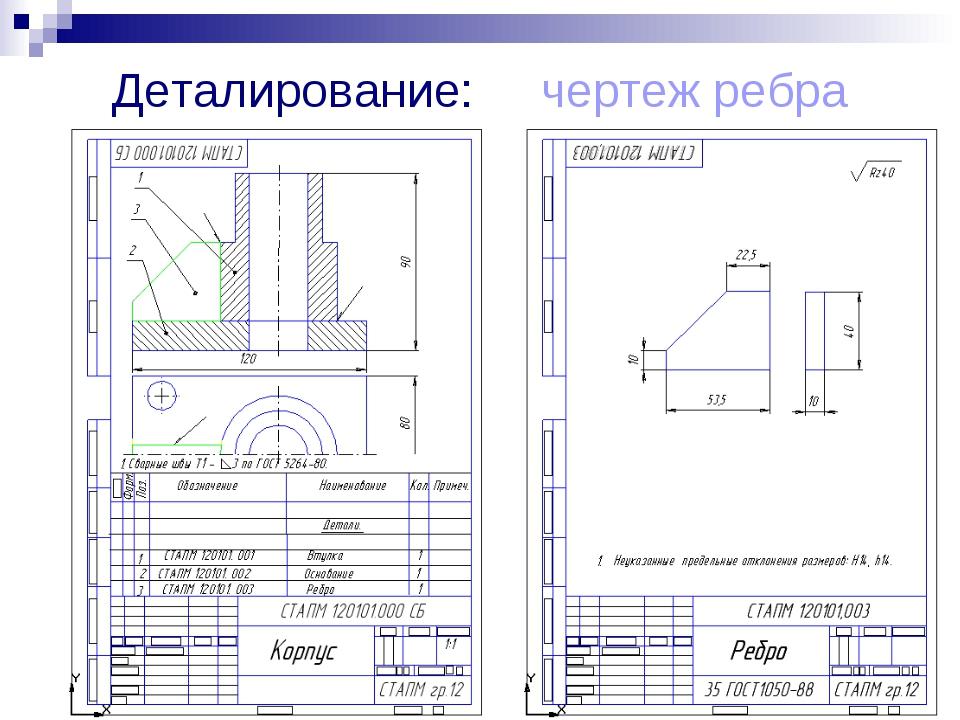 Конспект по технологии 'деталирование' (9 класс) - ботан