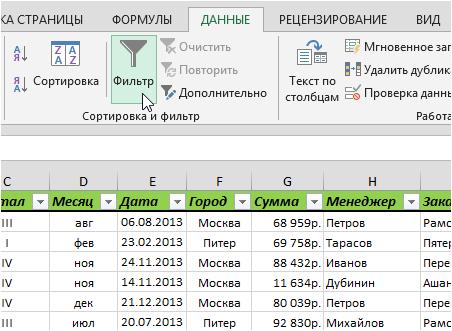 Фильтрация и сортировка товаров каталога