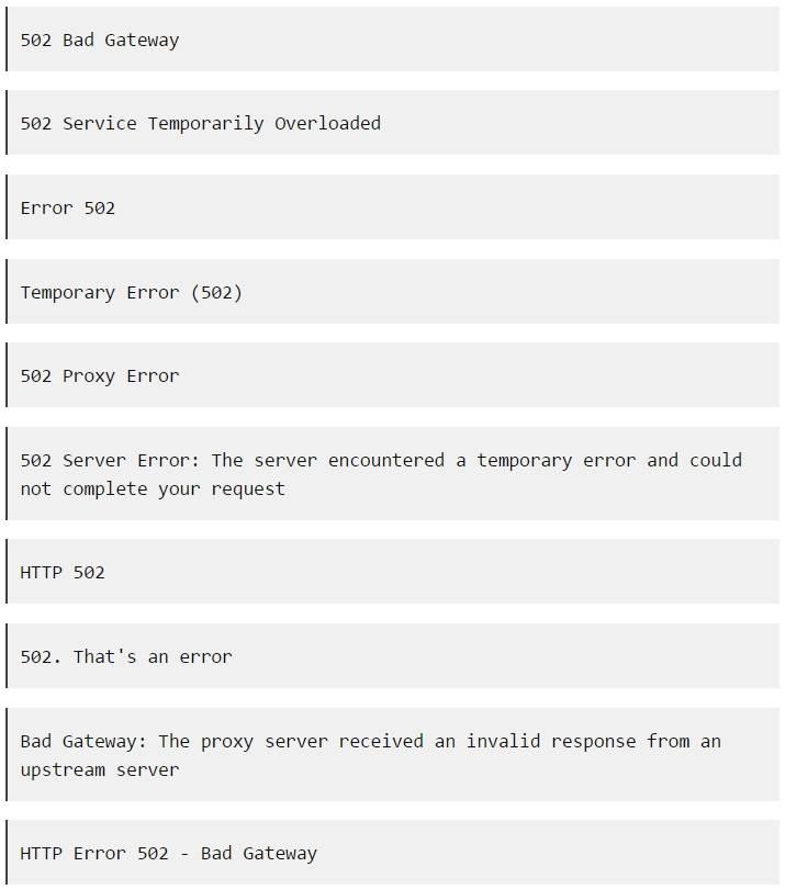Ошибка 502 bad gateway — как исправить