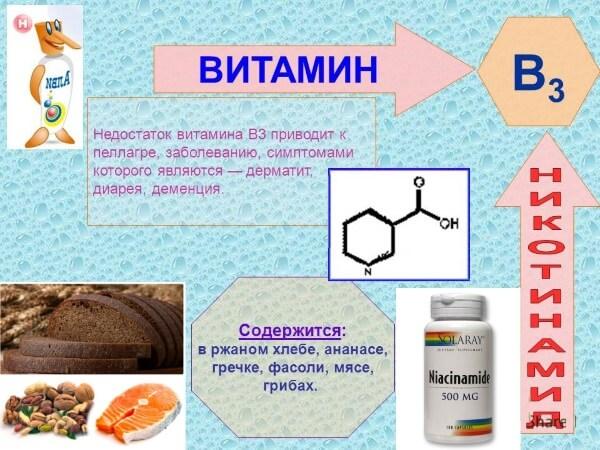 Для чего витамин в3 (рр) организму – польза никотиновой кислоты