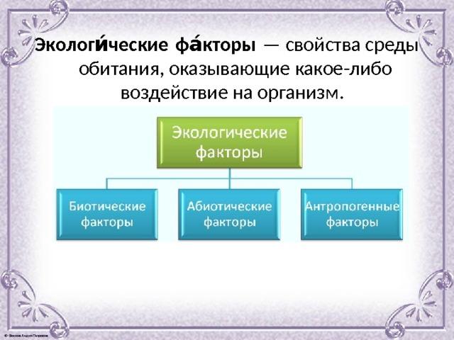 Экологический фактор - это... экология и человек. виды экологических факторов. классификация экологических факторов