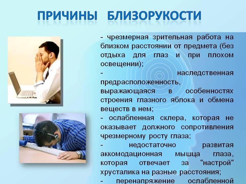 Миопия слабой степени (1 степени)