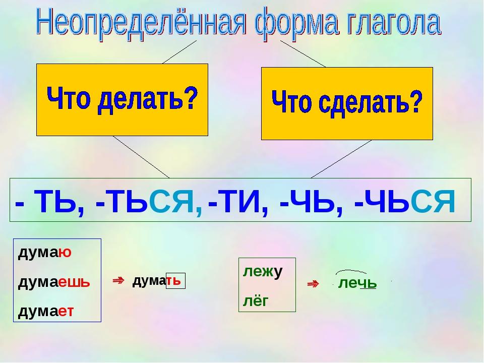 Что такое неопределенная форма глагола: как ее найти и на какие вопросы отвечает