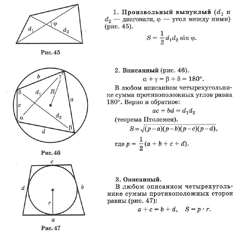 Подготовка школьников к егэ и огэ  (справочник по математике - планиметрия - окружность, описанная около треугольника)