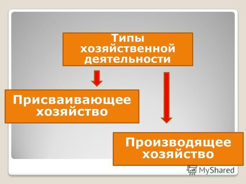 4.производящее хозяйство