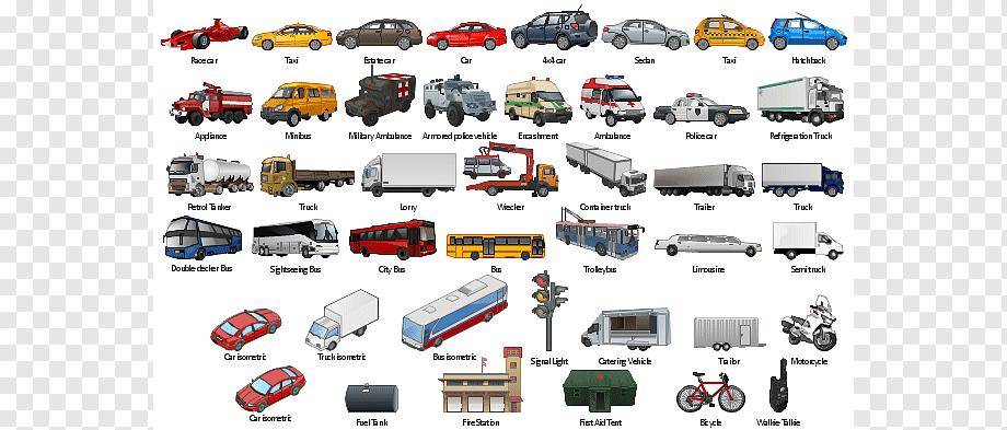 Виды транспорта. все виды транспортных средств. сможет ли человек прожить без транспортных средств?
