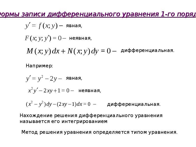 Дифференциальное уравнение