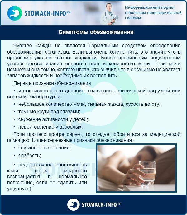 Признаки и симптомы обезвоживание организма у взрослых
