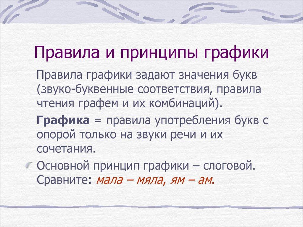 Сообщение что такое графика в русском языке. графика. орфография - ваш юрист