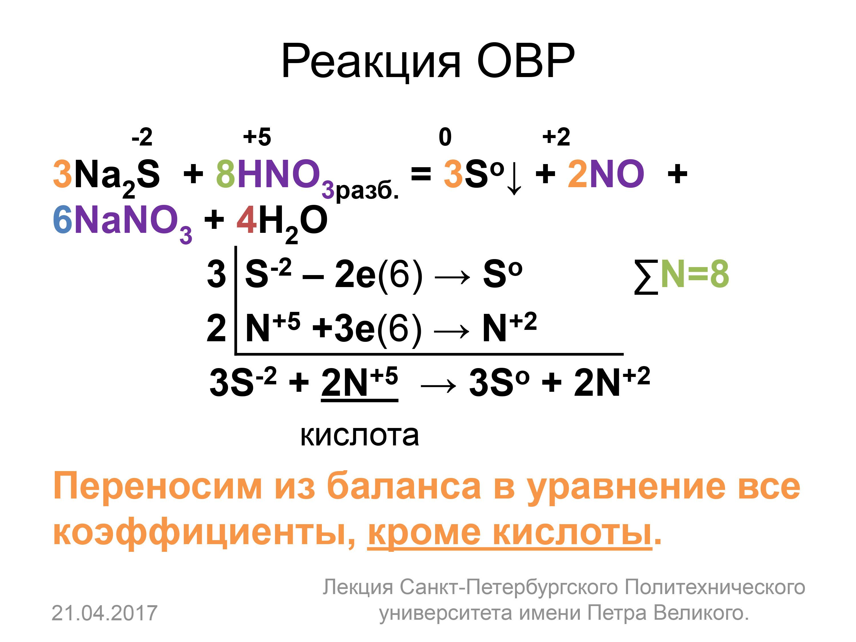 Окислительно-восстановительные реакции. окислитель и восстановитель