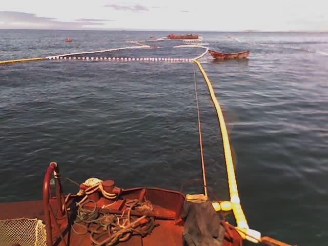Ловля неводом с лодки