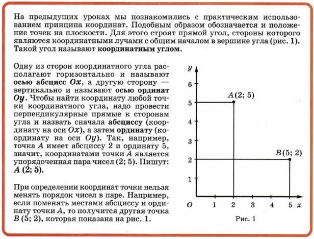 Декартовы координаты точек плоскости. уравнение окружности