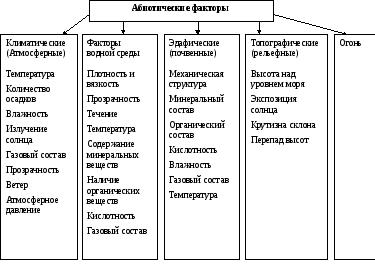 Факторы окружающей среды. классификация факторов природной среды