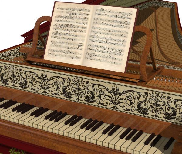 Клавесин - щипковый клавишный музыкальный инструмент
