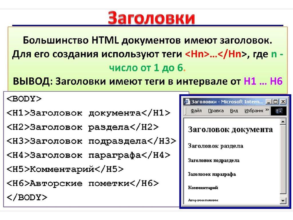 Что такое html, особенности структуры
