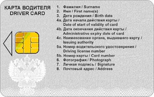 Оформление карточки тахографа для водителей