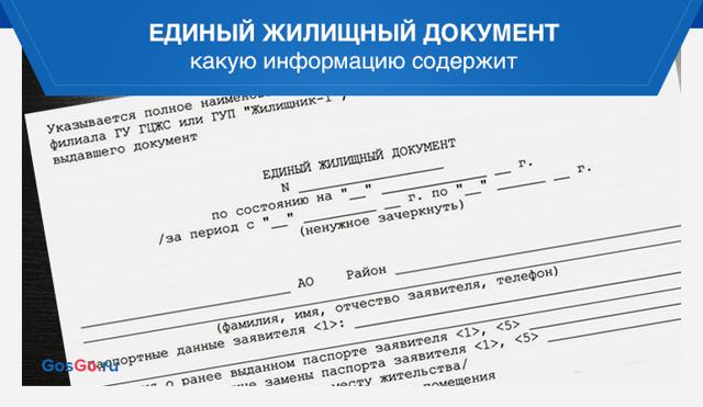 Единый жилищный документ - где получить, практические рекомендации, порядок действий