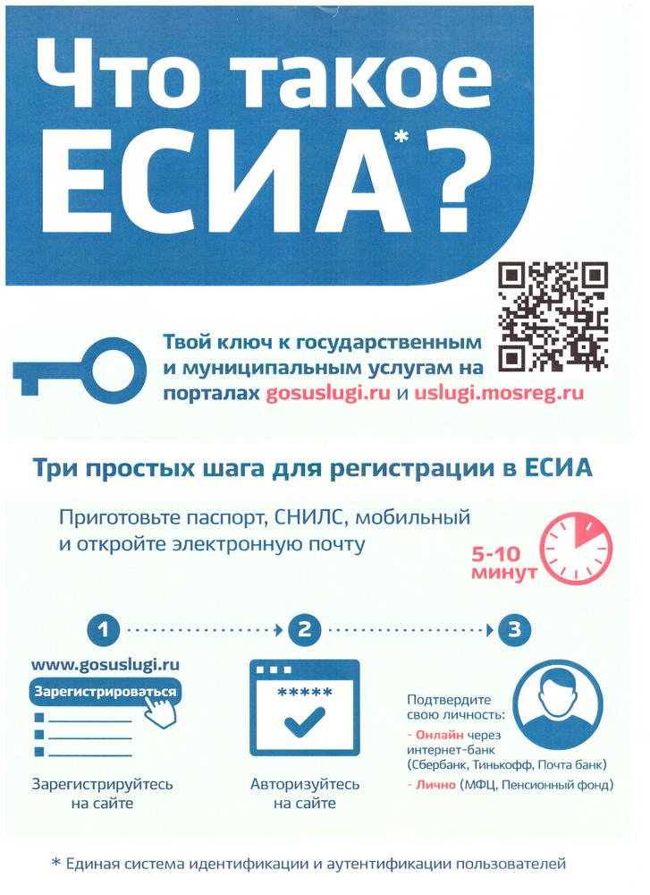 Единая система идентификации и аутентификации (есиа) — официальный сайт, вход