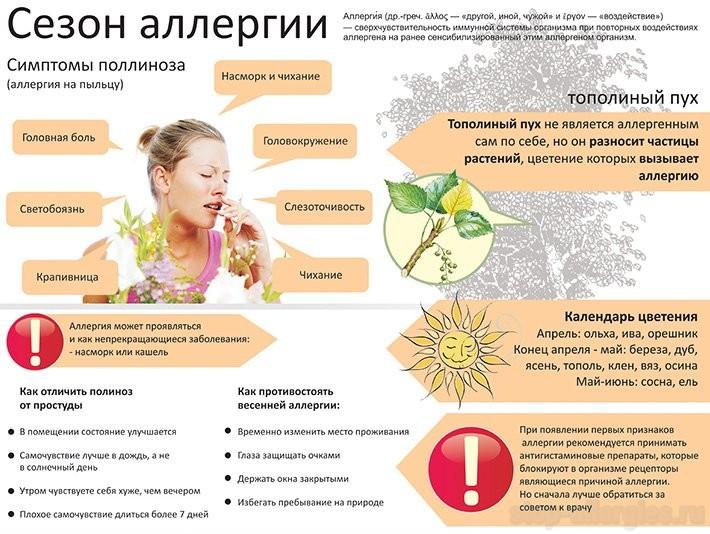 Поллиноз - лечение, симптомы, профилактика поллиноза