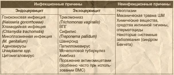 Экзоцервицит | университетская клиника в спб