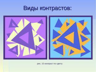 Контраст — википедия. что такое контраст