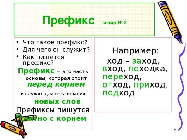 Что такое префикс
