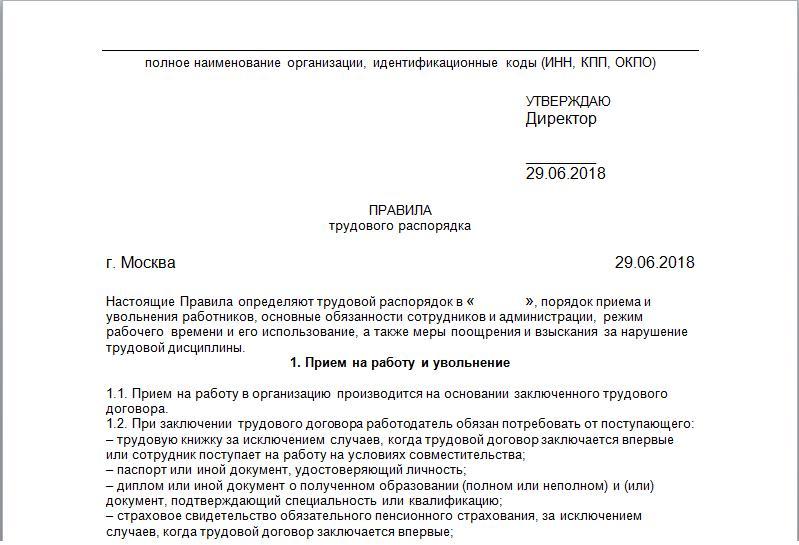 Правила внутреннего трудового распорядка — советы юриста | ангард.рф