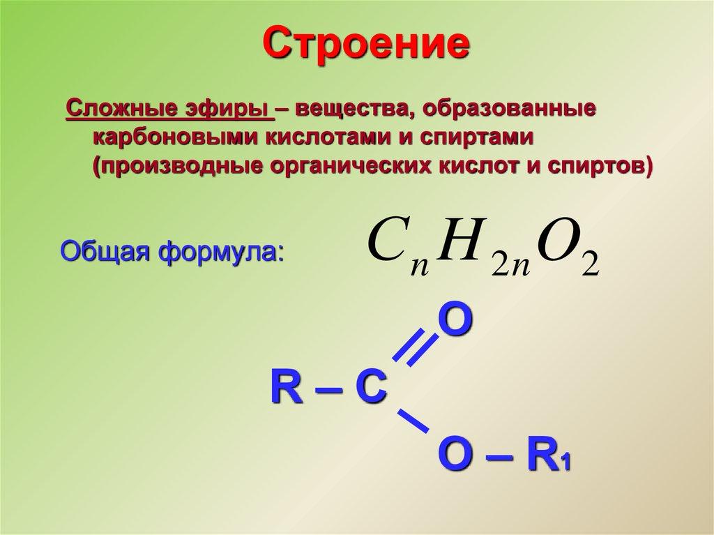 Готовимся к углубленному изучению химии : 10.5 сложные эфиры. жиры