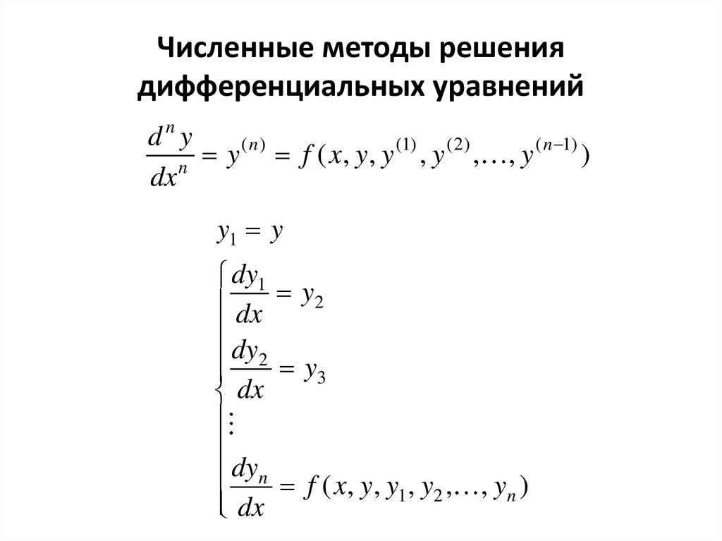 Дифференциальные уравнения - основные понятия и определения