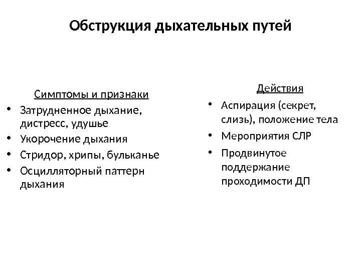 Обструкция дыхательных путей что это такое - wikivrachi.ru