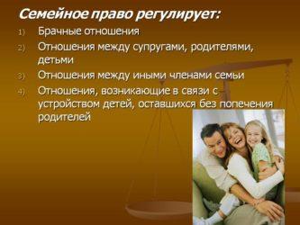 Семейное право в россии - что это такое: понятие, нормы и принципы, регулирующий документ