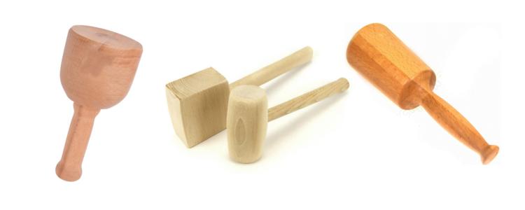 Деревянная киянка: особенности круглого молотка из дерева. для чего нужны прямоугольные столярные киянки? размеры моделей