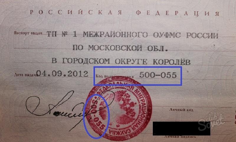 Что значит «код подразделения» в паспорте?