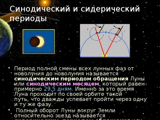 7.3. синодические и сидерические периоды обращения планет