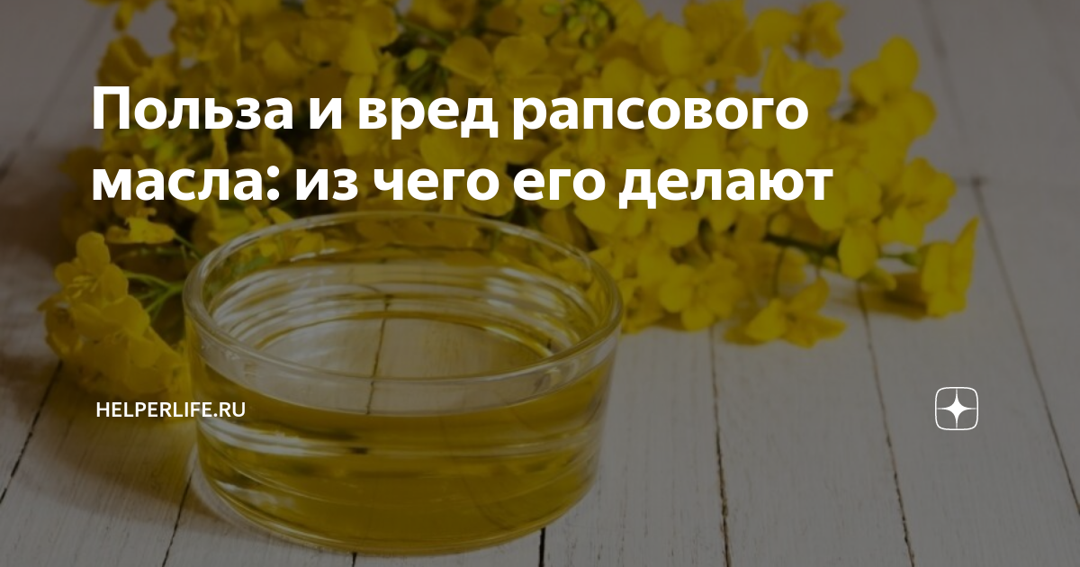 Рапсовое масло: вред и польза для организма человека - edapress.ru